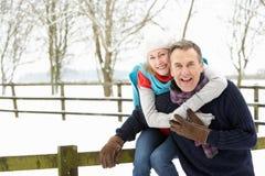 ландшафт пар вне старшего снежного положения стоковые изображения