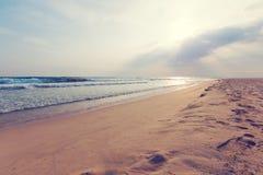 Ландшафт пляжа и моря стоковое изображение