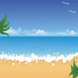 ландшафт пляжа тропический иллюстрация вектора