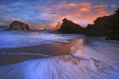 ландшафт пляжа Стоковое Изображение RF