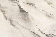 Ландшафт пляжа Sarakiniko лунный в Milos, островах Кикладов, Эгейском море, Греции Стоковая Фотография