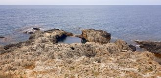 Ландшафт полуострова Tarkhankut стоковая фотография rf