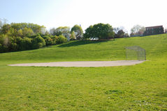 ландшафт поля бейсбола стоковое изображение rf