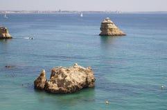 Ландшафт португалки - †моря и утесов «юг Португалии Стоковая Фотография