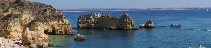 Ландшафт португалки - †моря и утесов «юг Португалии Стоковые Фотографии RF