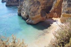 Ландшафт португалки - †моря и утесов «юг Португалии Стоковое фото RF