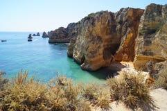Ландшафт португалки - †моря и утесов «юг Португалии Стоковая Фотография RF