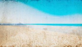 Ландшафт предпосылки пляжа винтажный Стоковые Изображения RF