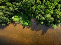 Ландшафт природы, взгляд сверху трутня воздушный стоковые фотографии rf
