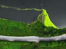 Ландшафт природы, взгляд сверху трутня воздушный стоковые изображения