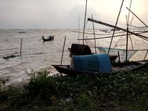 Ландшафт природы & вида на озеро стоковые фото