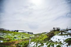 Ландшафт природы зимы Алжира стоковые фотографии rf