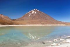 Ландшафт пустыни Боливии, verde laguna Стоковое Фото