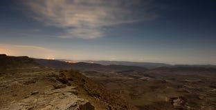 Ландшафт пустыни в Израиле Стоковое Изображение RF