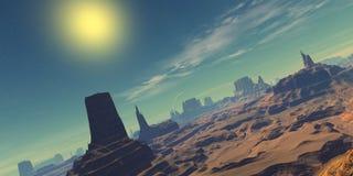ландшафт пустыни иллюстрация штока