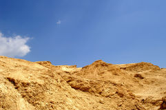 ландшафт пустыни arava мертвый Стоковые Изображения RF