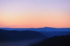 ландшафт рассвета Стоковое фото RF