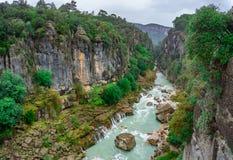 Ландшафт реки от каньона Koprulu Manavgat, Анталья, Турция стоковые изображения