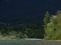Ландшафт рекой Изаром около Fleck долины, Баварии стоковое изображение rf