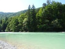 Ландшафт рекой Изаром около Fleck долины, Баварии стоковая фотография rf