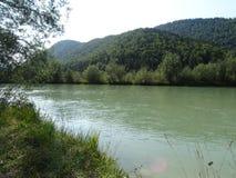 Ландшафт рекой Изаром около Fleck долины, Баварии стоковое фото rf