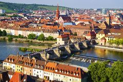ландшафт рисуночный wurzburg Германии стоковые фотографии rf