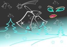 ландшафт рождества Стоковые Изображения RF