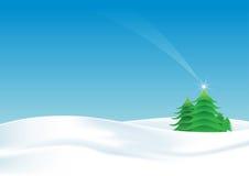 ландшафт рождества Иллюстрация вектора