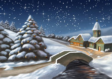 ландшафт рождества бесплатная иллюстрация