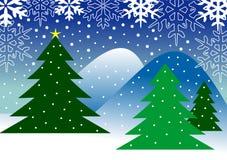 ландшафт рождества иллюстрация штока
