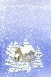 ландшафт рождества Стоковое фото RF