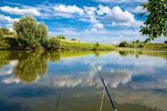 ландшафт рыболовства стоковое фото
