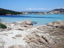ландшафт Сардиния Италии свободного полета изумрудный Стоковая Фотография