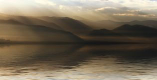 ландшафт светящий Стоковое фото RF