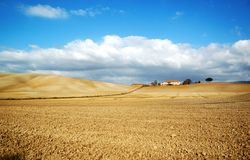 ландшафт сельская Тоскана Италии Стоковые Фото
