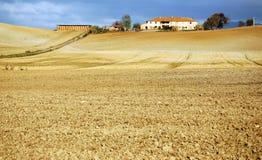 ландшафт сельская Тоскана Италии Стоковые Изображения RF