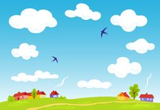 ландшафт сельский бесплатная иллюстрация