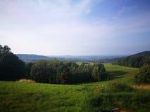 Ландшафт сельской местности Художнический взгляд в цветах стоковые изображения