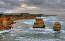 ландшафт скалы прибрежный Стоковые Изображения