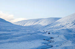 ландшафт снежный Стоковое Изображение RF