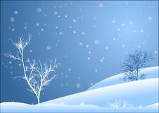 ландшафт снежный Стоковые Фотографии RF