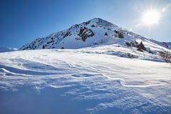 Ландшафт снежных гор стоковые фото