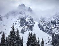 Ландшафт снежных гор стоковая фотография