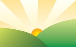 ландшафт солнечный иллюстрация штока