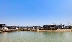 Ландшафт Солт-Лейк-Сити горы брызга Цзянсу Jintan Стоковые Изображения RF