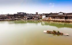 Ландшафт Солт-Лейк-Сити горы брызга Цзянсу Jintan Стоковое Фото