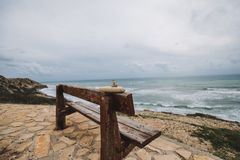 Ландшафт Средиземного моря Cavo Greco, Ayia Napa, Кипр стоковое фото