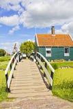 Ландшафт страны бортовой в Голландии стоковое фото rf