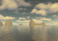 ландшафт сюрреалистический Стоковое Изображение RF