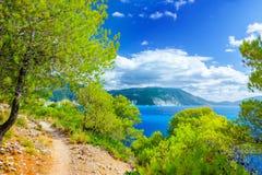 Ландшафт с взглядом моря стоковое фото